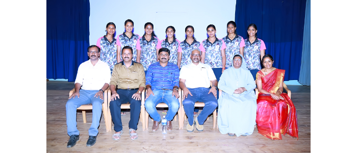 ALL INDIA INTER UNIVERSITY VOLLEYBALL WOMEN WINNERS RECEPTION 2016-2017