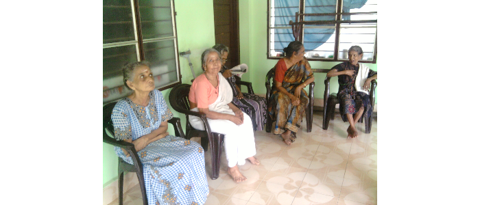 MSW students at  Geriatric Setting-2013