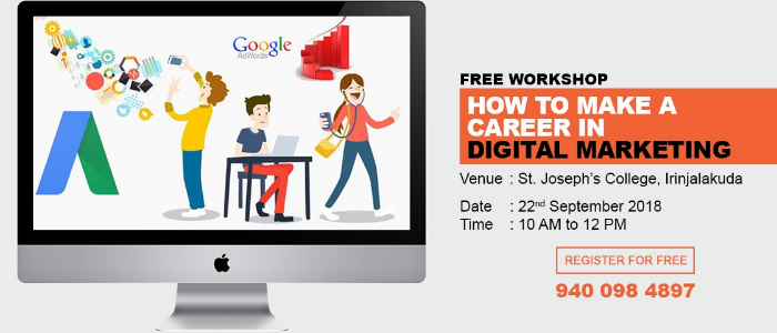 Workshop on how to make a career in digital marketing