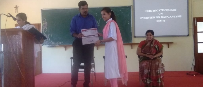 Convocation of Certificate Course in Overview on Data Science