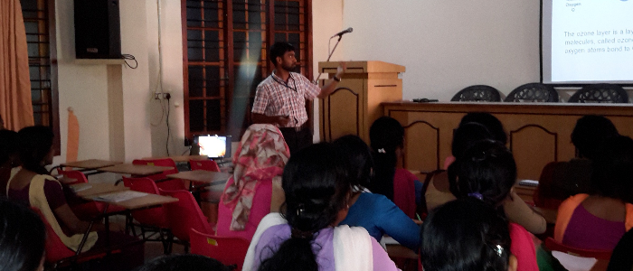 Ozone Day observance- An Invited talk by Dr. Manoj A.L