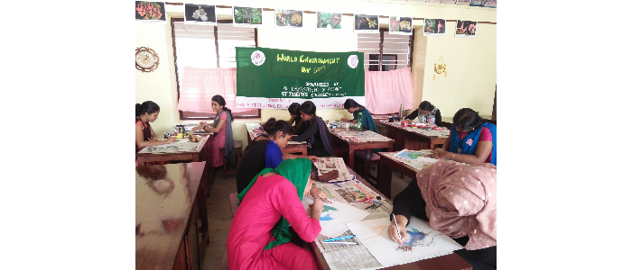 Painting competition for college students in connection with World Environment Day Celebration