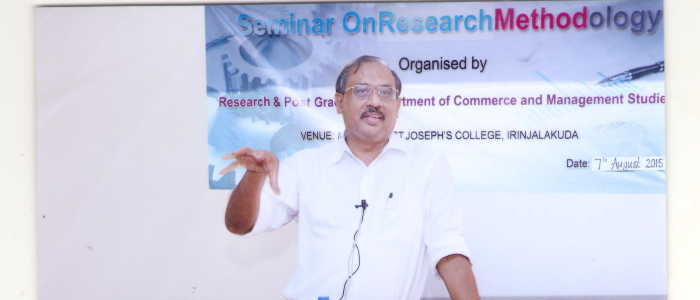 Seminar on research methodology 2015-16