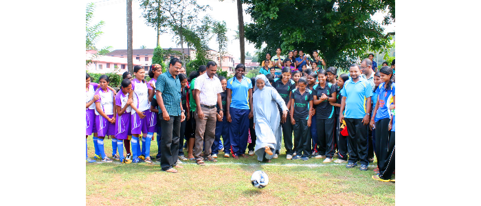 CALICUT UNIVERSITY INTER COLLEGIATE WOMEN FOOTBALL CHAMPIONSHIP ORGANISED BY  ST JOSEPH'S COLLEGE, IJK