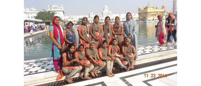 Study Tour of MSW Students at Punjab and Chandigargh-2014
