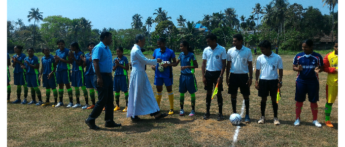 CALICUT UNIVERSITY INTER COLLEGIATE WOMEN FOOTBALL CHAMPIONSHIP AT COLLEGE FOOTBALL FIELD