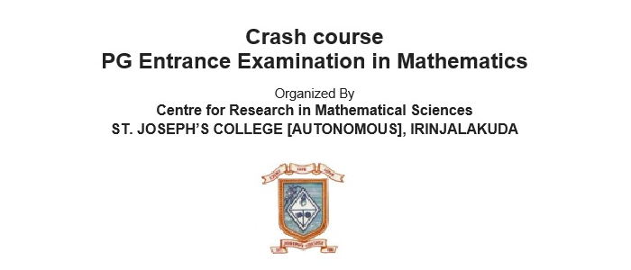 Crash course  for PG Entrance Examination in Mathematics