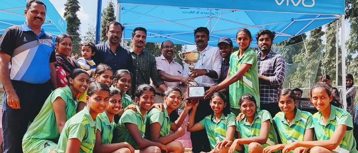 Winner in Calicut University Inter zone women Volleyball Championship 2019-20