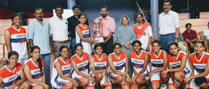 St.Joseph's College, Irinjalakuda has won the Calicut University inter zone women Basketball championship 2019-20.