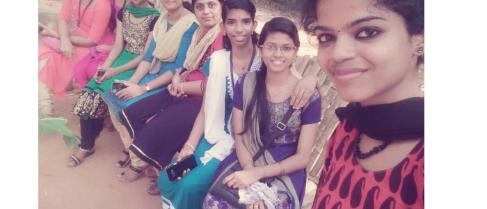 Faculty with students